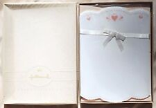 VINTAGE HALLMARK CROWN COLLECTION SCALLOPED HEART STATIONARY SET IN BOX