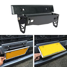 Racing Carbon Fiber Adjustable Number Car License Plate Frame Holder Universal