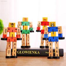42c3 Wooden Transformation Robot Building Blocks Toys Children Kids Gifts Classi