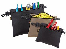 Custom Leathercraft 1100 Multi-Purpose Clip-on Zippered Poly Bags Tool Pouch Bag