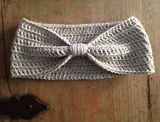 Turbante Diadema Bebe Cinta Pelo Beige Nuevo 0/3 Meses Crochet Ganchillo