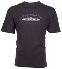 TOMMY BAHAMA Men T-Shirt LONG ISLAND LONGBOARDS Surf Board CHARCOAL Camp $45 NWT