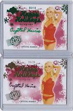Crtstal Harris Hefner Signed 2012 Bench Warmer Happy Holidays Card Lot (2)