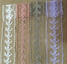 1 yard Vintage Cotton embroidered tulle Lace Trim Ribbon Sewing Decor Craft FL42