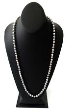 Joan Rivers Grey Faux Pearl Necklace with Magnetic Clasp 29.5 in