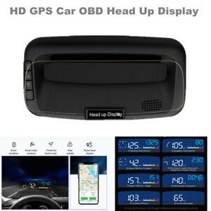 HD Universal GPS Car Head Up Display OBD Navigation Projector HUD w/Light Sensor