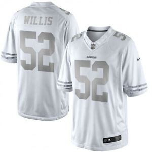 Men's Nike NFL Patrick Willis 49ers Platinum Authentic White Jersey XL