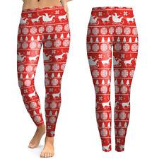 Christmas Xmas Women 3D Yoga Pants Gym Sport Leggings Fitness Workout Trousers A