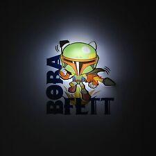 STAR WARS BOBA FETT 3D LED DECO WALL LIGHT NEW LIGHTING