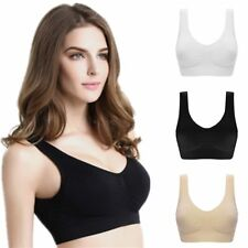 2c9992eaa75ef2 Sexy Genie Bra With Pads Seamless Push Up Plus Size Underwear Solid Women  Top