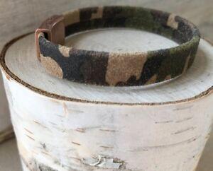 Camo Suede Copper Wrap Bracelet