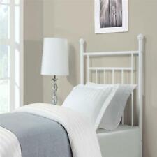 Metal Platform Bed Frame w/ Headboard Twin Size Sturdy Bedroom Furniture - White