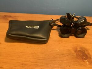 Beecher Mirage 5.5x25 Wide Angle Binocular Glasses RimlessView W/ Soft Case Nice
