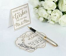 Wedding Advice Cards Guest Book Alternative Wishes Newlyweds Couple Bride Groom