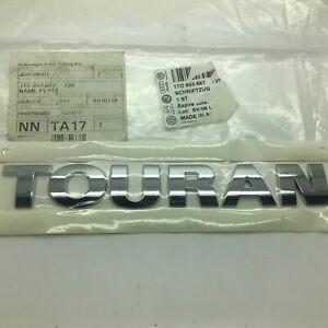 New GENUINE Volkswagen Touran Chrome Rear Boot Badge Emblem 10-17 1T0853687739