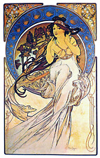 "Alphonse (Alfons) Mucha- Music, 1898 -24""x36"" CANVAS ART"