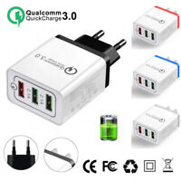 NEW QC3.0 Fast 3USB Wall Charger Adapter EU/US Plug Universal For iPhone Samsung