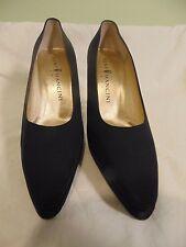 Women's Rene Mancini Black Cloth Heels Pumps Size 9 M