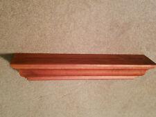 "Pottery Barn 36"" Long Crown Ledge Wall Shelf Display Cherry Grain Wood"