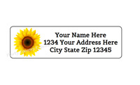 Personalized ROUND Printed Return Address Labels Seals ~ SUNFLOWER 3