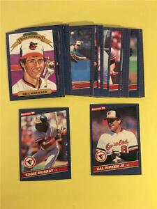 1986 Donruss Baltimore Orioles Team Set 29 Cards With Highlights
