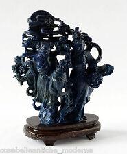 Antica Scultura Guanyin in Lapislazzulo Antiques Cina Sculpture Late Qing XIXsec