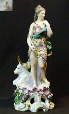 B 1760 remarquable statuette porcelaine Chelsea 1.3kg31c gold anchor Mythlogie