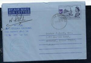 Tristan da Cunha  air letter sheet  used   1972
