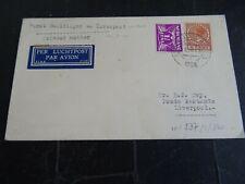 Nederland 171, 178 op brief met 1e postvlucht naar Liverpool 1934