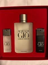 GIORGIO ARMANI Acqua Di Gio Gift Set 6.7oz And Travel Sprays