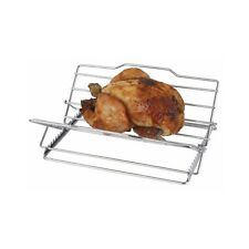 Kitchen Craft Meat Grill Rack Adjustable Folding Chrome Plated Roasting Roast