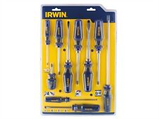 Irwin Pro Comfort 10 Piece Slotted, Phillips®, Pozidriv® Screwdriver Set 1951882