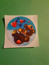 vintage 80's Lisa Frank teddy bear sticker *restored*(free ship $20 min)