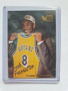 🔥🔥 1996-97 Kobe Bryant Fleer Metal Fresh Foundations Rookie Lakers RC #137