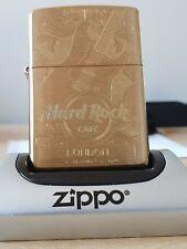 HARD ROCK LONDON SOLID BRASS ZIPPO (204B) BRAND NEW IN GIFT/PRESENTATION BOX.
