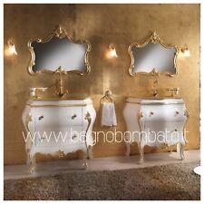 Mobile Bagno Stile Barocco Veneziano Massello Top Oro24k