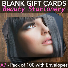 Gift Voucher Card Beauty / Make Up Salons / Hairdressers - x100 + FREE Envelopes