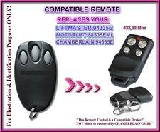 Liftmaster 94335E / Chamberlain 94335E compatible télécommande 433,92Mhz