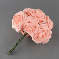 10Pc/Bunch Artificial Rose Fake Flowers Wedding Bridal Bouquet Home Office Decor