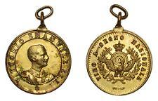 ITALIA Vittorio Emanuele III Medaglia di premio per Tiro a Segno, Rame dorato