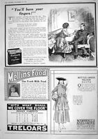 Antique Old Print 1916 Kenilworth Cigarettes Mellin'S Food Marshall Snelgrove