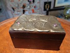 arts and crafts pewter lidded box