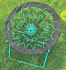 "Teal 32"" Bungee Chair Round Folding Comfortable Lightweight Indoor Outdoor Camp"