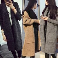 Stylish Women Loose Long Sleeve Sweater Knitted Cardigan Coat Jacket Outwear Top