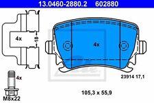 Plaquettes de Frein ATE Arrière 13.0460-2880.2 pour Audi - Seat - Skoda - VW
