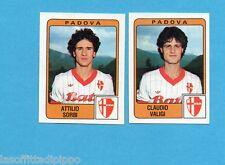 PANINI CALCIATORI 1984/85 -FIGURINA n.416- SORBI+VALIGI - PADOVA -Rec