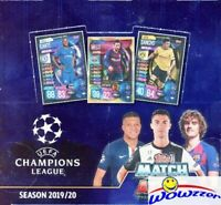 2019/20 Topps Match Attax Champions League Soccer Box-180 Cards-Haaland RC Year!