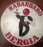 LATTA PUBBLICITARIA RABARBARO BERGIA  ESATTAMENTE COME DA FOTO