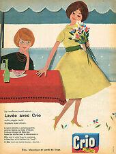 PUBLICITE ADVERTISING 124  1959   CRIO  lessive