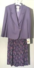 Womens NEW Size 14W Pendleton Skirt Suit Set Purple Jacket Floral Skirt NWT